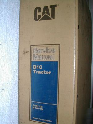 Caterpillar D10 tractor dozer service repair manual cat
