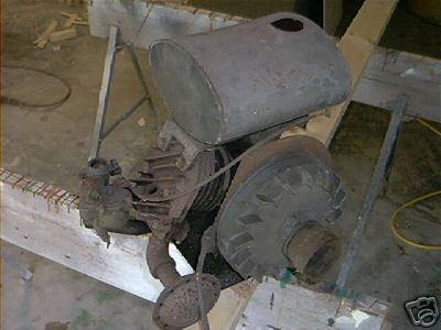 Antique johnson iron horse gas engine