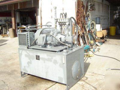 40 Hp Hydraulic Power Unit Elec Motor Vickers Parker