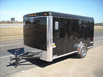 X Enclosed Utility Cargo Two Bike Motorcycle Trailer Imgpic