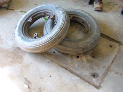 Farmall Tractor Ih Sc C Sa Front Rims Tires Imgpic