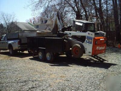 New Dump Trailer Load Skidsteer Bobcat Jersey Imgpic on Skid Steer Trailer