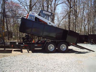 New 2007 Dump Trailer Load Skidsteer Bobcat Jersey