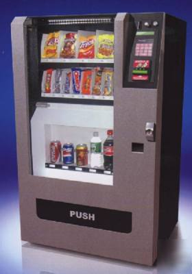 Snack & soda can bottle combo electric vending machine
