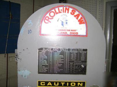 Roll In Rollin Model Ef 1459 Band Saw Machine