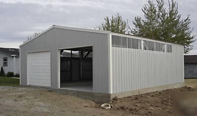 Steel Building Kit 30x36 Full Engineered Garage Shop
