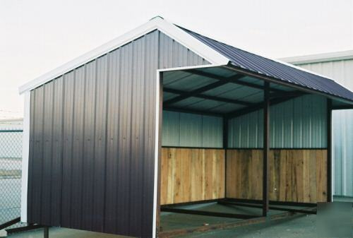 12x24 Premium Portable Steel Loafing Shed No