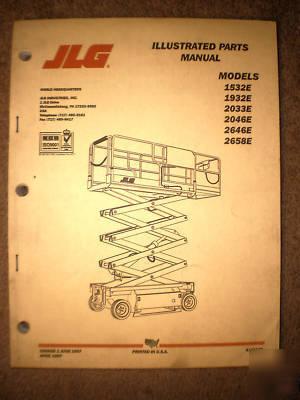 Jlg part manual & schematic , 1532E 1932E 2033E 2646E Jlg E Wiring Schematics on