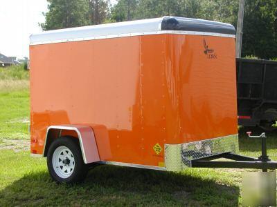 5x8 Enclosed Cargo Trailer Orange