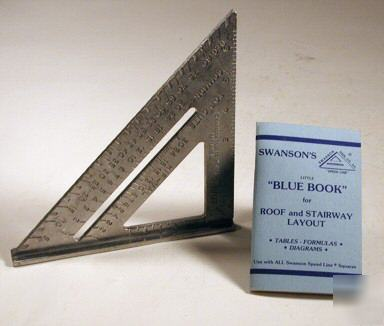 Swanson Speed Square With Little Blue Book For Roof