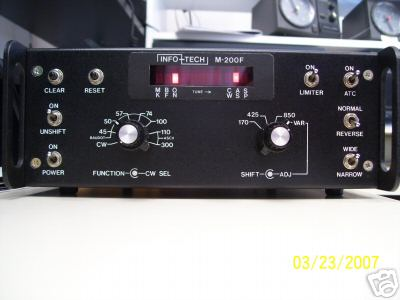 Info-tech m-200F rtty/ascii/cw dedicated decoder