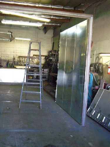 New Powder Coat Batch Oven Inside 6ft X 6ft X 10ft Deep