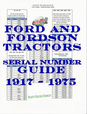 Ford Fordson Tractors Serial Numbers Guide Imgpic