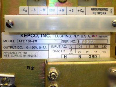 Kepco power supplies ate 100-10M & ATE150-7M