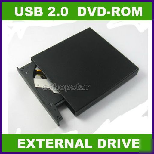 Usb 2.0 slim external dvd rom cd writer rw combo drive