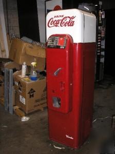 Vendo 44 Coca Cola Bottle Vending Machine Vintage