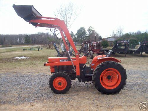 Kubota L245 Tractor Parts : Kubota l dt hp diesel tractor w loader