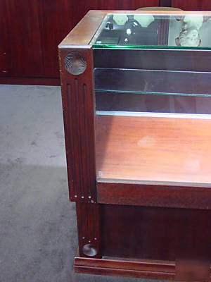 Large Wood And Glass Display Case And Cabinet Must Go