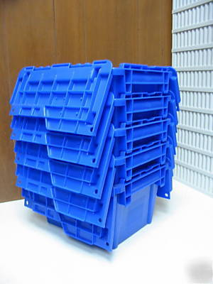 5 Heavy Duty Plastic Totes Shipping Containers Storage