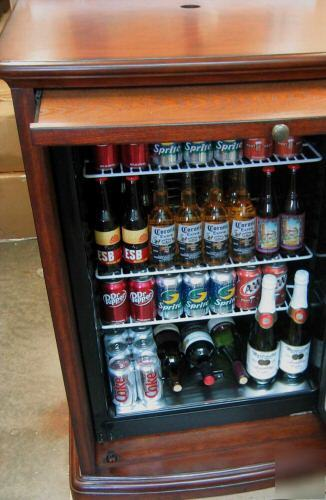 New Kegerator Beer Refrigerator Wood Furniture Fridge