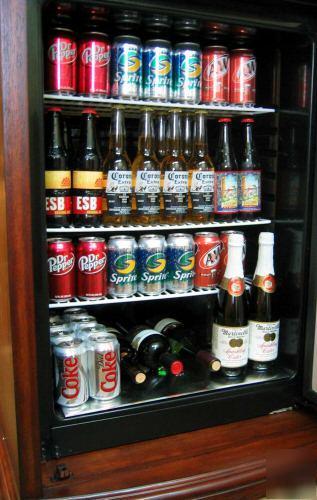 New Kegerator Beer Refrigerator Wood Furniture Fridge