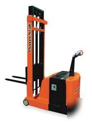 2009 electric counterbalance stacker : 1100LB. cap.