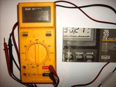 Fluke 25 multimeter w/manual