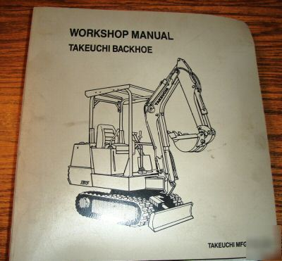 takeuchi tb68s compact excavator backhoe service manual. Black Bedroom Furniture Sets. Home Design Ideas