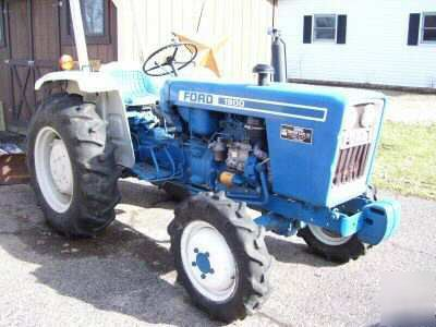 Ford 1900 Deisel Tractor With Bush Hog And Blade