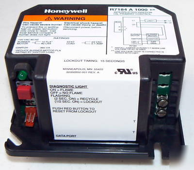 new honeywell r7184a 1000 ignition primary control. Black Bedroom Furniture Sets. Home Design Ideas