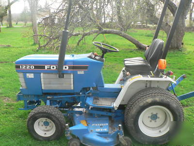 New Wd Ford Holland With Inch Mower Deck Imgpic on Ford 1220 Tractor