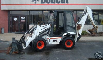 Bobcat B300 tractor loader backhoe with kubota diesel