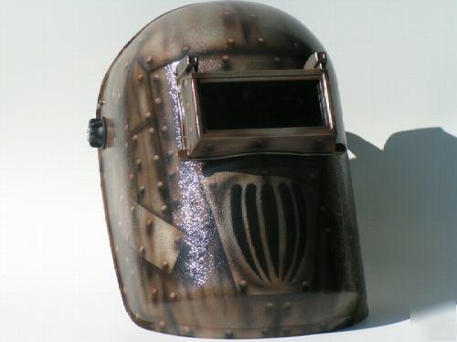 Custom Welding Helmets >> Airbrushed welding helmet antique vintage ing