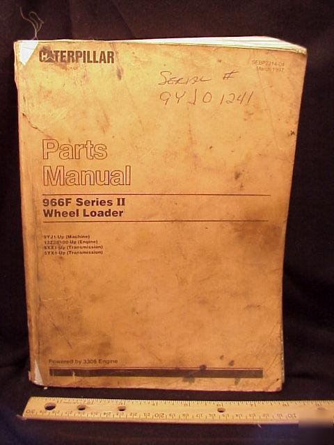 Cat Caterpillar 966 F 966f Wheel Loader Parts Manual