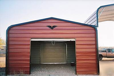 barn or carport and garage combo 58x21 installed. Black Bedroom Furniture Sets. Home Design Ideas