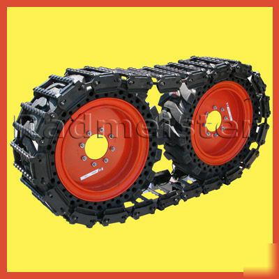 """Caterpillar Skid Steer >> Over-the-tire skid steer tracks 12"""" bobcat & john deere"""