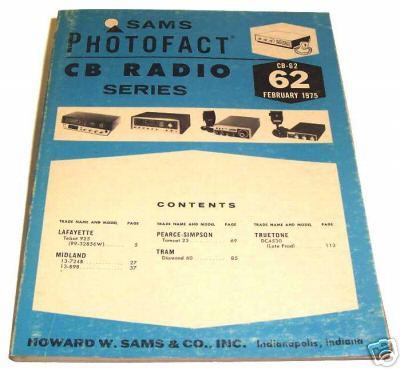 Sams photofact cb 62 february 1975 cb radio series for Lloyds motors jamestown nd