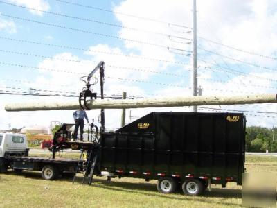 New '09 all pro dump trailer grapple cargo enclosed