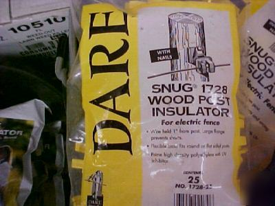 Electric fence insulators wood posts 5 - 25 packs dare