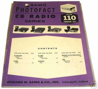 Sams photofact cb 110 february 1977 cb radio series for Lloyds motors jamestown nd