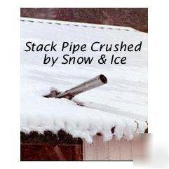 Vent Stove Chimney Pipe Protect Metal Roof Snowbreaker