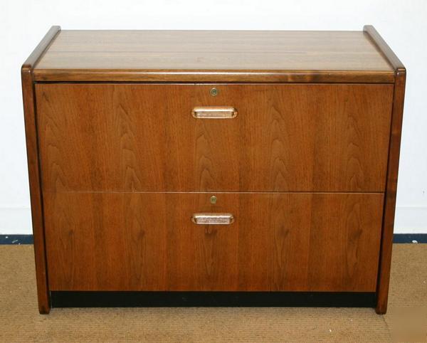 Vintage Danish Modern Mod Lateral File Cabinet Credenza
