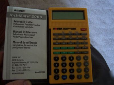 New sonin inchmate 2000 construction calculator New construction calculator
