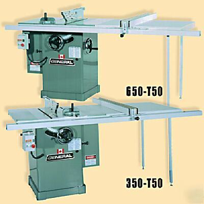 General 350 T50 M2m 10 Quot 3hp Rt Cabinet Table Saw
