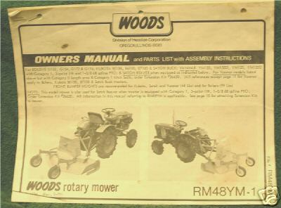 Woods Mower 1250 manual