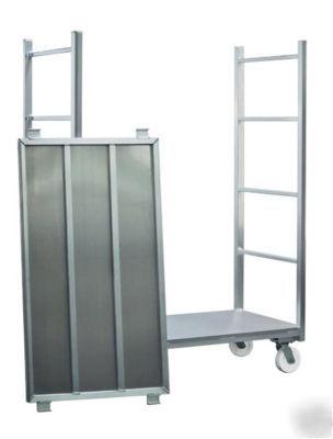 New age industrial,cart,stocking,aluminum,u-boat,shelf,