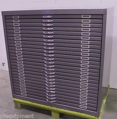 Foster 25 Drawer Slim Line Flat Files Cabinet