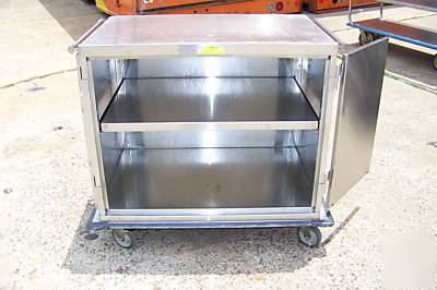 Metro stainless steel rolling warming cabinet