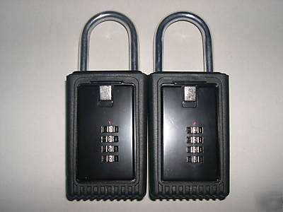 2 lock boxes realtor real estate key 4 number dials