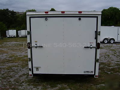 7 x 14 enclosed cargo/utility motorcycle trailer